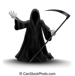 Grim Reaper -  image with Grim Reaper on white background