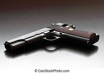Legendary US .45 caliber handgun. - Legendary US .45 caliber...