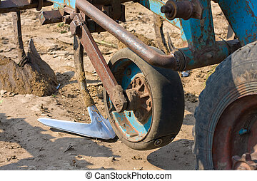 Agricultural machine on the field - Agricultural machinery....