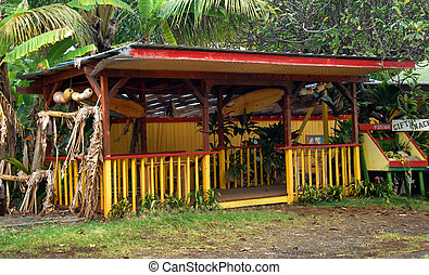 Big Island Fruit Stand - Gaudy roadside fruit stand catches...