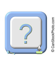Baby Gender Question - Blue rimmed baby block has question...