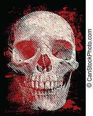 Artistic skull on the dark background
