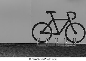 Bike parking - A bike parking opportunity with a symbol