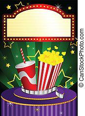 filme, teatro, fundo