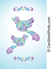 Bird abstract design - A vector illustration of abstract...