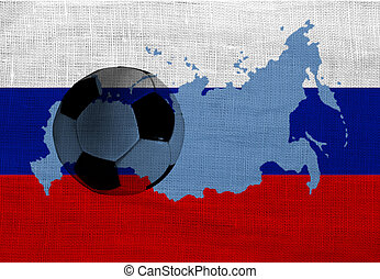 Russian football - Football ball on the national flag of...