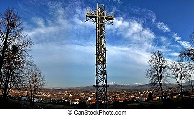 Papal Cross in Skoczow