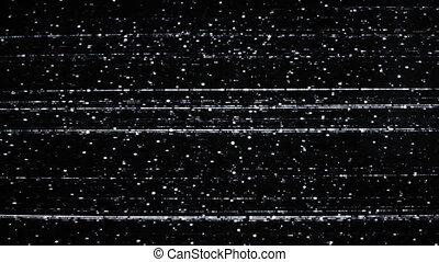 tv snow noise on black screen HD video 1920x1080