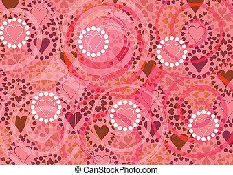 Heart pattern. vector illustration
