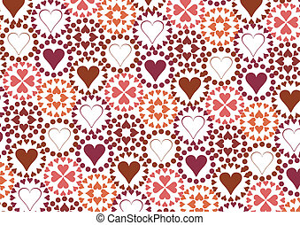 Heart pattern. vector illustration