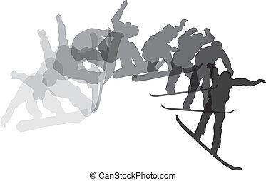Skateboarding sequence. Vector illustration
