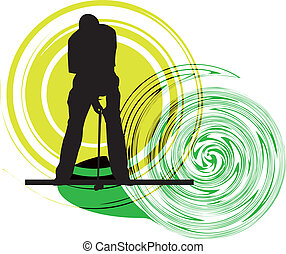 Golfer. Vector illustration