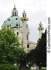 Karlskirche In Vienna - St. Charles's Church (Karlskirche)...
