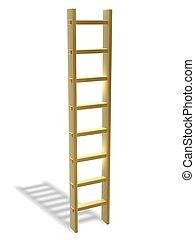 dorado, escalera, éxito