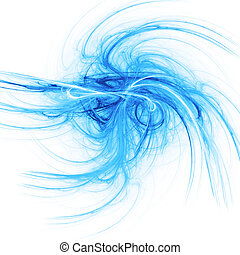 blue rays - abstract chaos blue rays on white background