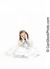 Angelic Face - A little girl princes, dressed in elegant...
