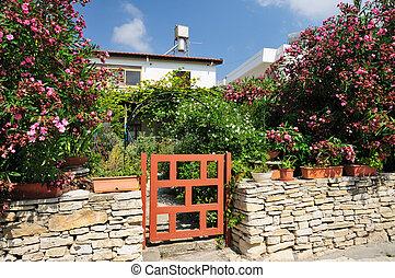 casa, Omodos, villaggio, repubblica, Cipro