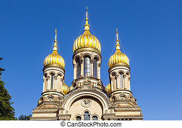 Russian orthodox chapel Wiesbaden, Germany - Russian...
