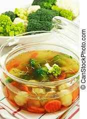 Healthy food - vegetable soup