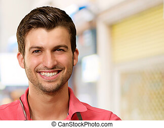Portrait Of A Young Man Smiling, Indoor