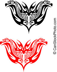 Biker tattoos with fire tribal flames for design