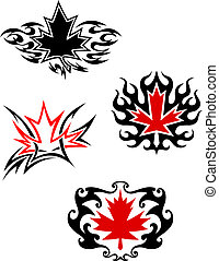 Maple leaf mascots