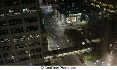 Calgary Downtown Top Floor Zooms - A beautiful urban night...