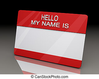 Hello My Name is Sticker BG - Hello My Name is Sticker on a...
