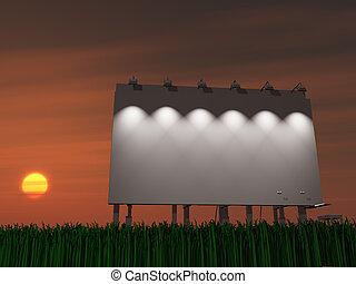 Sunset or sun rise billboard