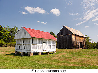 Barns at Thomas Stone house in Maryland - National Historic...