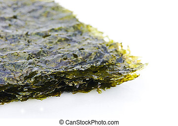 East cooking - Crispy seaweed isolated on white