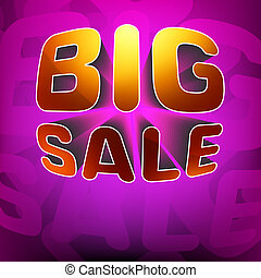 Zoom shine text Big Sale on purple. EPS 8