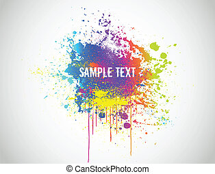 Abstract Paint Splash Background. Vector illustration -...