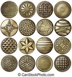 Bronze buttons