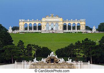 Schonbrunn Palace Park - Gardens at Schonbrunn Palace,...