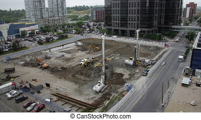 Calgary Construction Time Lapse - This is a construction...