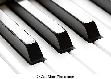 piano, teclado, macro