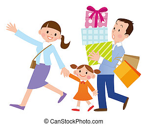 Family shopping Illustrations and Clipart. 3,443 Family shopping ...