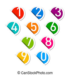Numbers set vector illustration