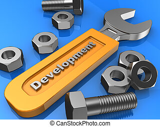 Equipment - Industry equipment: screws, bolts and wrench
