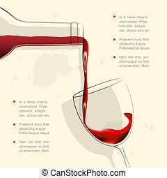 vine2 Converted - Wine pouring into wine glass Vector...