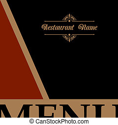 Restaurant menu design in retro style