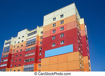 Building colour  - Residential unit  colour many-storeyed