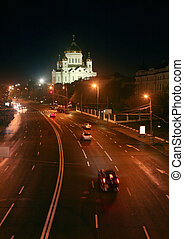 temple of the Christ of the Savior - The night Moscow...