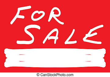 FOR SALE SIGN ON RED
