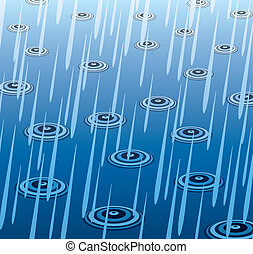 vector  heavy rain  - vector illustration of heavy rain