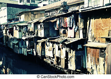 Urban Squalor - Urban scene from a poor third world country
