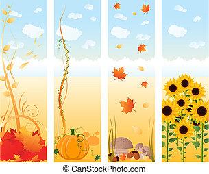 Vertical autumn banners