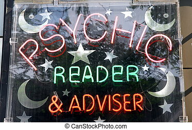 Psychic Reader - A sign of a business of a psychic reader