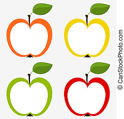 Apples collection - Various apples icons - set for design....